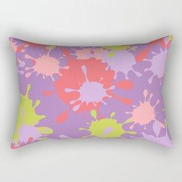 Paint Splatter-Purple+Pink+Green Rectangular Pillow