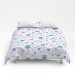 Forget Me Nots - Pink Comforters