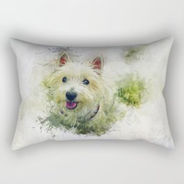 West Highland White Terrier Rectangular Pillow