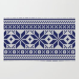 Winter knitted pattern 5 Rug