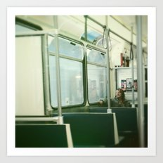 Train Tramp Art Print