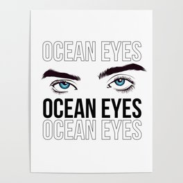 Ocean eyes Billie Eilish Poster