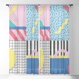 Memphis Party Sheer Curtain