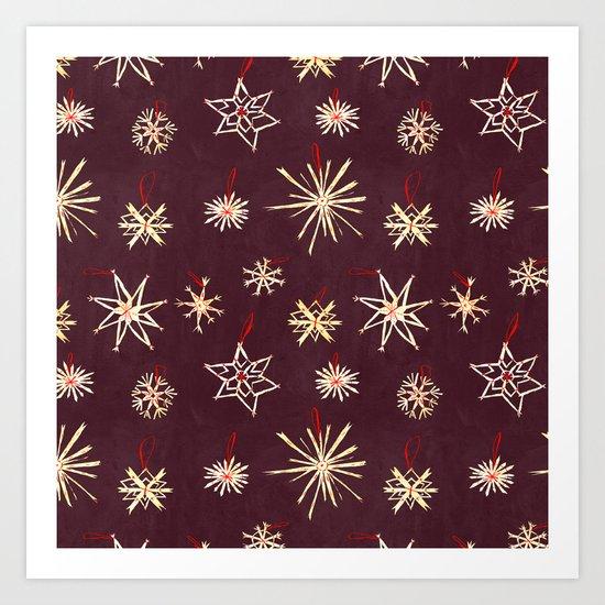 Straw Stars Art Print
