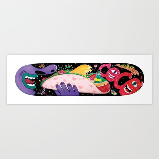 """Cocó´s Surfing safary"" Art Print"