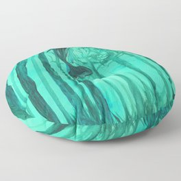 Moby´s Forest - Mint Green Floor Pillow