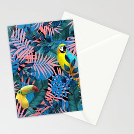 Tropical Jungle Toucan Parrot Stationery Cards