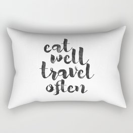 printable art,eat well travel often,kitchen decor,travel sign,travel gifts,quote prints,inspiration Rectangular Pillow