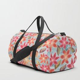 Cute Lilies and Leaves Duffle Bag