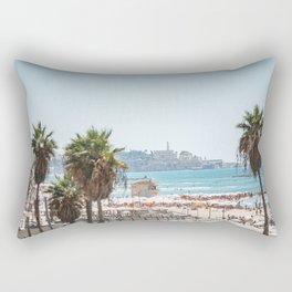 View of Old Jaffa from Gordon Beach, Tel Aviv, Israel Rectangular Pillow