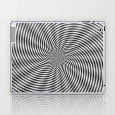 Spiral Rays in Monochrome Laptop & iPad Skin