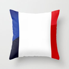 France Flag Circle Throw Pillow