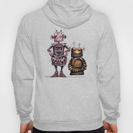 Two Kid's Robots Hoody