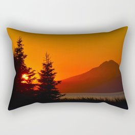Orange Sky - Mt. Redoubt Rectangular Pillow