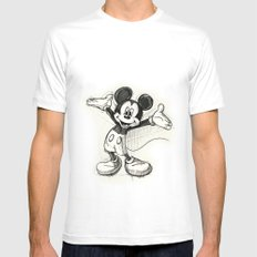 Mickey Mouse Mens Fitted Tee MEDIUM White