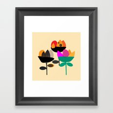 Three Flowers Framed Art Print