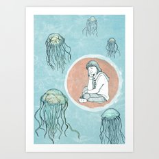 Jellyfish dreams Art Print
