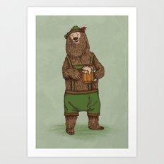 Traditional German Bear Art Print