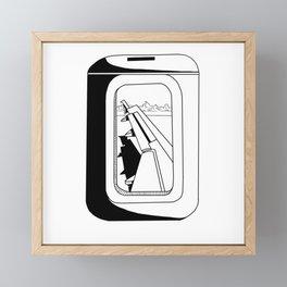 Window Seat Framed Mini Art Print