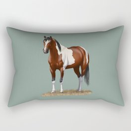 Beautiful Bay Pinto Quarter Horse Rectangular Pillow