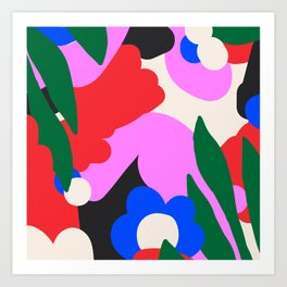 Abstract Floral Art Print