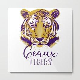 Geaux Tigers Metal Print