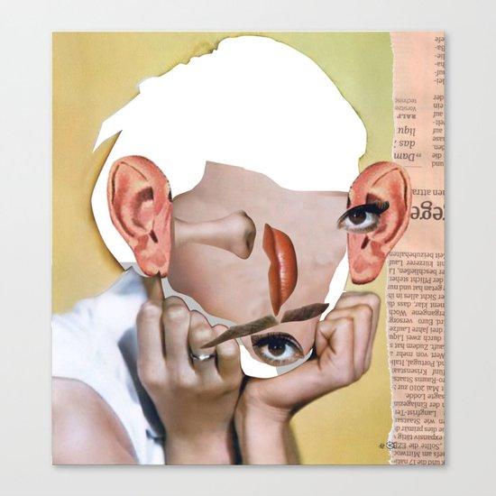 Audrey 2 Collage Canvas Print