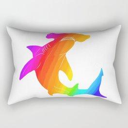 Rainbow hammerhead Rectangular Pillow