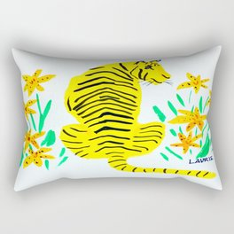 Tiger and Tiger Lillies Rectangular Pillow