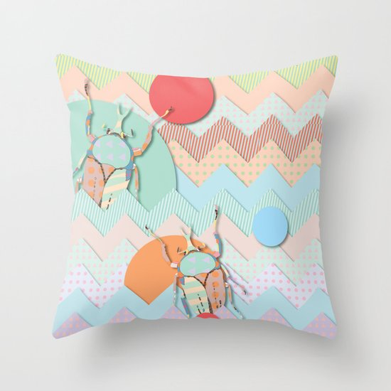 Insect VI Throw Pillow