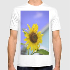 Summer Cottage Sunflower Mens Fitted Tee White MEDIUM