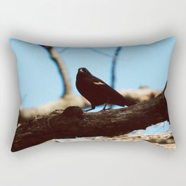 sing sweetly, blackbird Rectangular Pillow