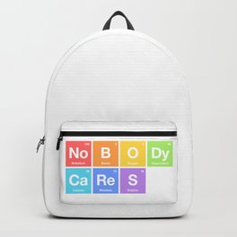 Nobody Cares - Periodic Table of Elements Rainbow Backpack