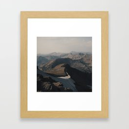 Mountain Layers in the Wyoming Wilderness Framed Art Print