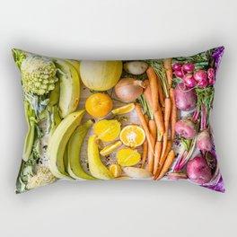 Eat the Rainbow Rectangular Pillow