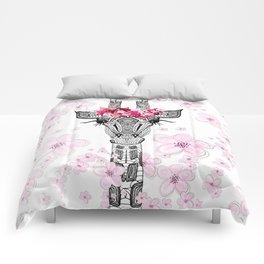 FLOWER GIRL GIRAFFE Comforters