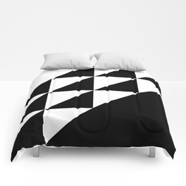 Black and White Triangle Comforters