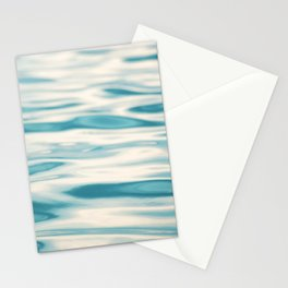 Water Ripple Ocean Photography, Sea Ripples Aqua Blue, Turquoise Teal Beach Abstract Seascape Nature Stationery Cards