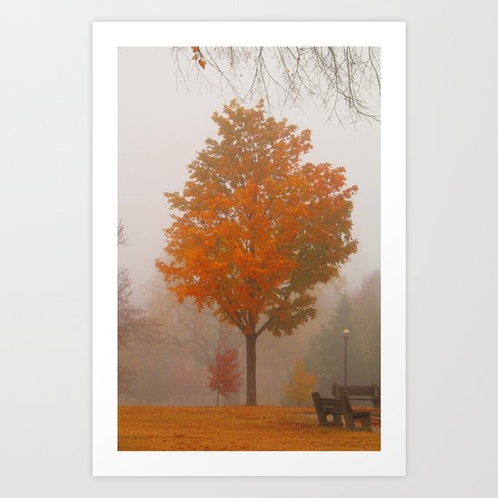 October Fog Art Print