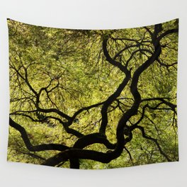 Japanese Maple Tree Wall Tapestry