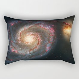 Whirlpool Galaxy and Companion Galaxy Rectangular Pillow