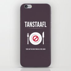 TANSTAFFL iPhone & iPod Skin