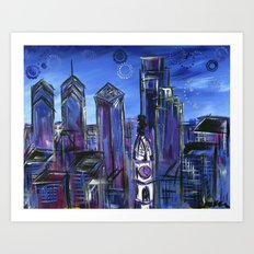 Starry Philadelphia Art Print