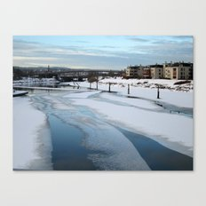 Beautiful Icy Blue Canvas Print