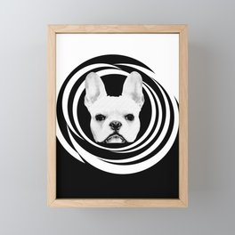 Frenchie Retro Disco Dog #1 #decor #art #society6 Framed Mini Art Print