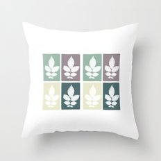color block 4: muted Throw Pillow