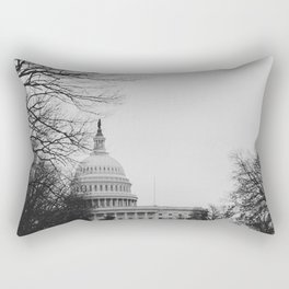 US Capitol Shrouded In Winter Gloom Rectangular Pillow