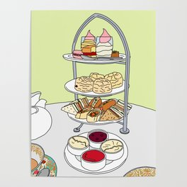 English Afternoon Tea Poster