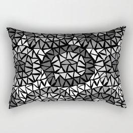 Triangels grey Rectangular Pillow