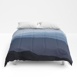 Misty Mountain Blue Comforters